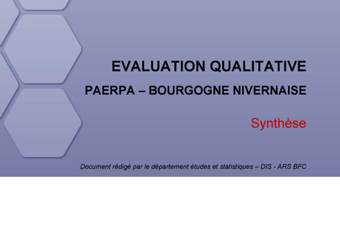 PAERPA 58 évaluation qualitative