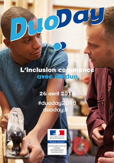 Duoday, l'inclusion commence avec un duo, 26 avril 2018